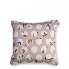 Character Tonal Polka Cushion (Grey)