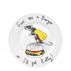 """Give me a burger"" Side Plate"