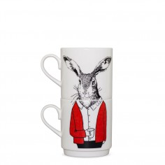 Mr Hare Stackable Tea Mugs (2Cup Set)