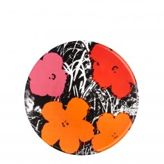 Andy Warhol Flowers Plate - Red/Pink