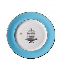 Birdcage Blue Dinner Plate
