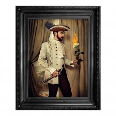 'Fire is not enough...' Framed Canvas Print
