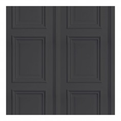 Panelling Wallpaper Anthracite