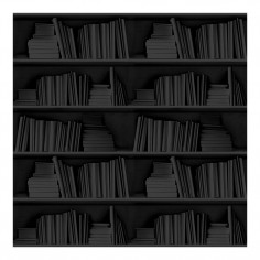 Bookshelf Wallpaper Black