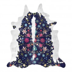 Gypsy Cowhide Rug - Navy
