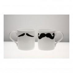 Moustache Mug XL - Maurice Poirot Black