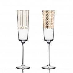 First Gold Champagne Glass | Set 2