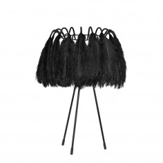 All Black Feather Table Lamp