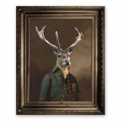 'Brother Stanwick' Ornate Framed Canvas Print
