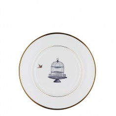Birdcage and Bird Bone China Plate - Salad plate