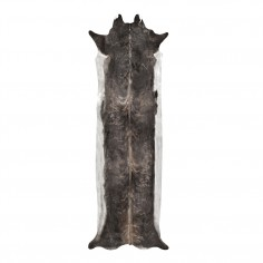 Super Long Stretched Cowhide Rug Natural Browns