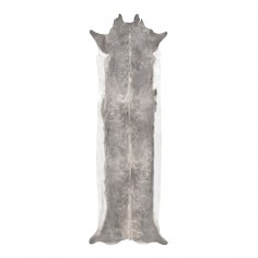 Super Long Stretched Cowhide Rug Bleached